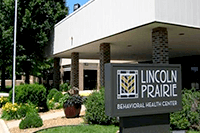Lincoln Prairie Behavioral Health Center facility entrance